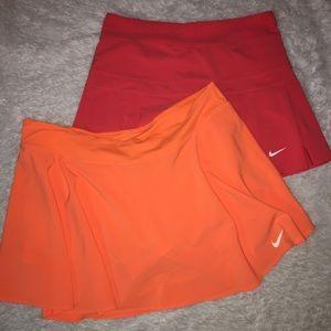Nike Dri-Fit Tennis Skirts Bundle Lined Sz XL